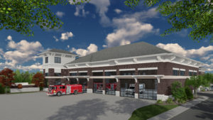 Akron Fire Station #4 – Elevation